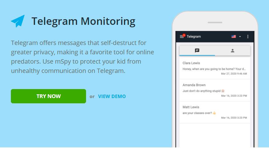 Telegram monitoring for Samsung Galaxy S7